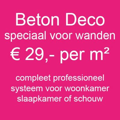 Beton Cire Deco Compleet Systeem